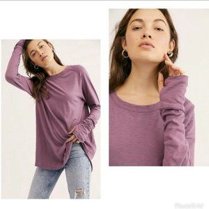 Free People We The Free Arden Long Sleeve Tee Top